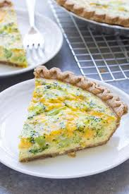 Easy Broccoli Cheese Quiche (5 Ingredients)