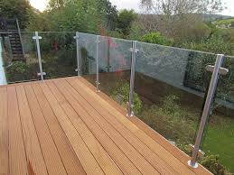1000mm X 1000mm Toughened Clear Glass Balustrade Panels Amazon Co Uk Kitchen Home