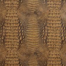 brown crocodile faux leather