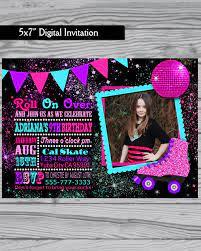 Roller Skating Invitation Roller Skate Party By Loveleedesigns1