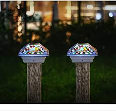 Amazon Com Haveone Solar Post Lights Outdoor Light For Fence Deck Or Patio Solar Powered Caps Warm White Led Lighting Waterproof For Garden Patio Decoration 4x4 Or 3 5x3 5 Posts 2 Pack Home Improvement