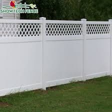 China Hot Sale 6 H 8 W Pvc Plastic Lattice Privacy Fence China Vinyl Fence Pool Fence