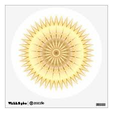 Gold Geometric Mandala Wall Decal Zazzle Com