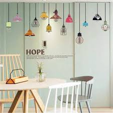 Amazon Com Marydecals Wall Quotes Decal Wall Stickers Art Decor Colorful Pendant Lamp Hope For Living Room Home Kitchen