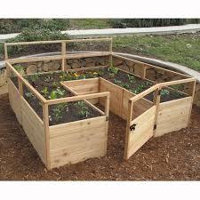Outdoor Living Today 8 Ft X 8 Ft Cedar Raised Garden Bed With Deer Fence Kit Reviews Wayfair