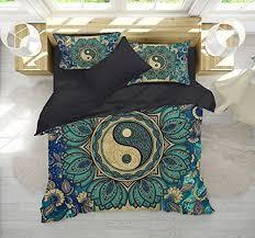 lotus mandala bedding yin yang mandala