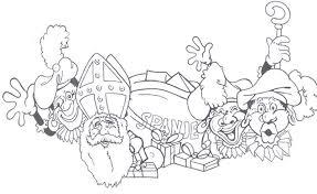 Kleurplaat Sinterklaas Kleurplaat Sinterklaas En Zwarte Piet