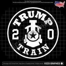 Trump Train 2020 Decal Vinyl Window Sticker 4 Sizes Or Bulk 3 Colors Ebay