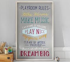 Playroom Rules Wall Art Pottery Barn Kids