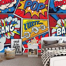 Comics Wallpaper Pop Art Decal Kids Room Decal Peel And Etsy In 2020 Pop Art Wallpaper Kids Room Decals Kids Room Art