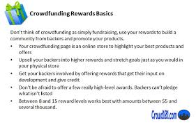 crowdfunding rewards strategy to beat