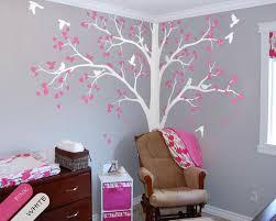 Tree Wall Decal Full Corner Tree Sticker Nursery Wall Etsy