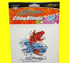 Axius Ed Hardy Koi Fish Crystal Cling Blings Decorative Decal Shop Car Accessories At H E B