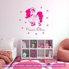 Amazon Com My Little Pony Pinkie Pie Friendship Characters Girls Name Vinyl Wall Stickers Removable Vinyl Wall Decals Handmade