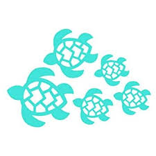 Amazon Com Turtle Family Die Cut Vinyl Window Decal Sticker For Car Or Truck 3 5 X8 Automotive