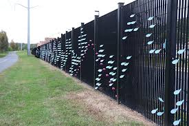 Public Art Installation On Sewage Plant Fence Completed Arlnow Com