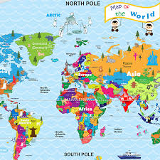 World Map Wall Stickers For Kids Room Mycutestickons