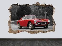 Ferrari 250 Gto Vintage Cars Wall Decal Classic Housewares Homedecor Etsymktgtool Ferrari250gto Vintagecars Car Wall Art Shop Wall Art Boys Room Wall Art