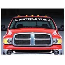 Don T Tread On Me Gadsden Flag Windshield Banner Decal Sticker Midwest Sticker Shop