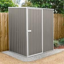 1 51 x 1 51 x 1 98m grey garden shed
