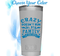 Monogram Vinyl Decal For Tumblers Cups Sticker With Quote Design Ebay