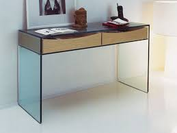 gulliver modern glass console table by