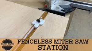 How To Make A No Fence Miter Saw Station Youtube