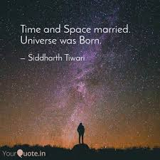 time and space married u quotes writings by siddharth