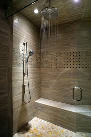 rain shower head contemporary bathroom