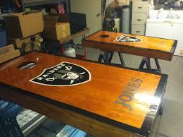 Raiders Cornhole Board Done Cornhole Boards Corn Hole Diy Diy Cornhole Boards