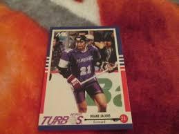 eBlueJay: 1993 Nastasi MILL Indoor Lacrosse Duane Jacobs Rookie Card# 36,  Detroit Turbos