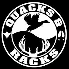 Quacks And Racks Decal Vh022 Waterfowl Bird Hunting Vinyl Window Stickers Ebay