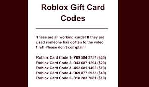 free roblox gift card codes 2019 unused