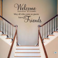Welcome May All Who Come V2 Wall Decal Sticker By Wondrouswallart 26 00 Wall Quotes Decals Wall Decal Sticker Wall Decals