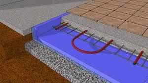 hydronic retrofit in a bat slab