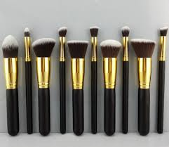 10pcs high quality makeup brushes new