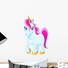 Cute Unicorn Wall Decal Wallmonkeys Com