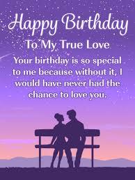 romantic happy birthday card for him