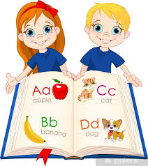Two Kids And Abc Book Wall Mural Pixers We Live To Change