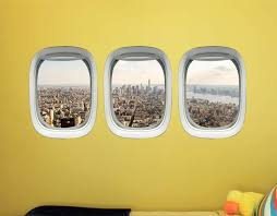 Vwaq Nyc Wall Sticker New York City Window Decal Airplane Window C