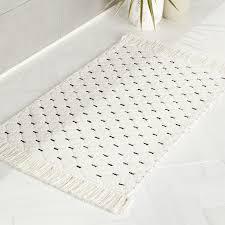 modern bath mats and rugs cb2