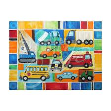 Custom Kids Transportation Wall Art Personalized Car And Etsy Gallery Wrap Canvas Art Transportation Truck Art