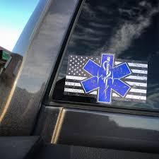 Paramedic Flag Decal