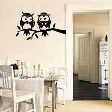 Owl Decal Monogram Childrens Wall Decals Nursery Wall Decals Home Art Decor Decal 60 105cm
