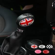 British Jack Checker Decoration 3d Crystal Sticker Decal For Mini Coop Carsoda