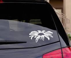 Daisy Flower Floral Wall Car Decal Sticker Big Or Small Cute Car Decals Car Decals Stickers Car Decals