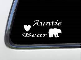 Amazon Com Thatlilcabin Auntie Bear As536 8 Sticker Decal Automotive