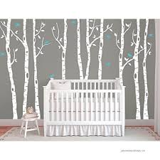 Large Birch Tree Decals For Walls Wall Mural Decal White Tree Wall Decal Nursery Wall Decals