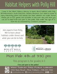 Habitat Helpers with Polly Hill: Grades K-3 | West Tisbury Library