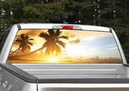 Beach Sunset Rear Window Graphic Decal Perforated Etsy